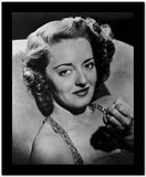 Bette Davis Portrait smiling with Closed Fist in Glittered Strap Dress with Marcel Wave Hair High Quality Photo