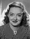 Bette Davis Portrait in White Polka Dot Black Silk Blouse Premium Art Print