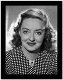 Bette Davis Portrait in White Polka Dot Black Silk Blouse High Quality Photo
