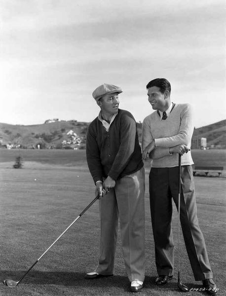 Bing Crosby Playing Golf in Classic Premium Art Print
