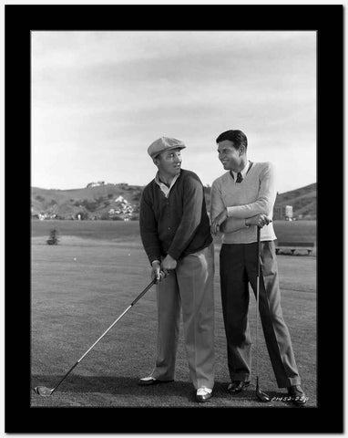 Bing Crosby Playing Golf in Classic High Quality Photo