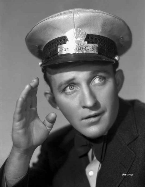 Bing Crosby wearing Rank Official Hat Close Up Portrait Premium Art Print