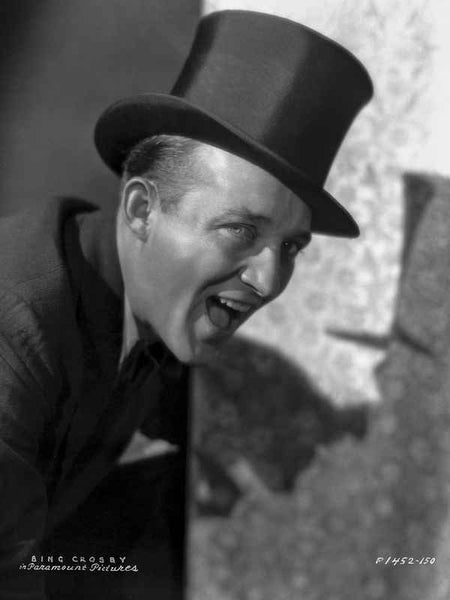 Bing Crosby Mouth Open wearing Tuxedo with Magician Hat Portrait Premium Art Print
