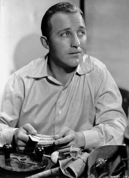 Bing Crosby Seated wearing Long Sleeves Portrait Premium Art Print