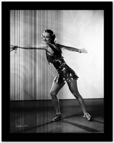 Joan Crawford Preparing for a Big Turn in a Classic Portrait High Quality Photo