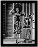 Joan Crawford wearing a Floral V-Neck Dress in a Classic Portrait High Quality Photo