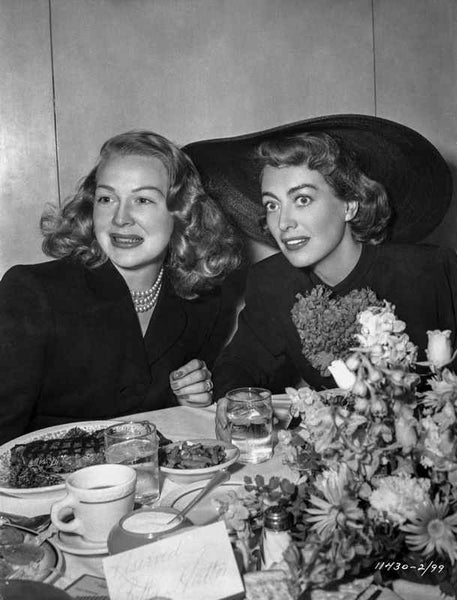 Joan Crawford Dining with a Woman in Classic Premium Art Print