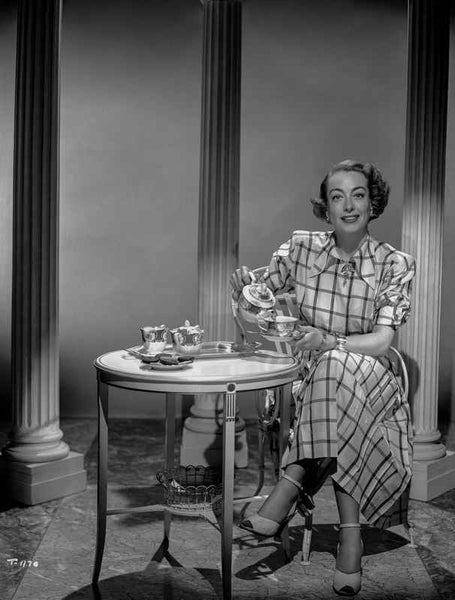 Joan Crawford Serving a Tea in Classic Premium Art Print