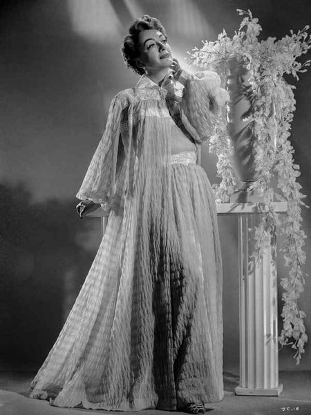 Joan Crawford wearing a See Through Robe in a Classic Portrait Premium Art Print