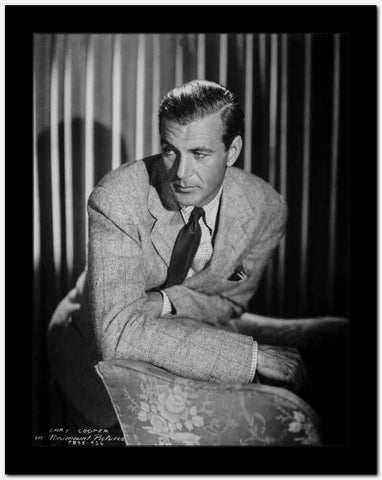 Gary Cooper Leaning on Table High Quality Photo