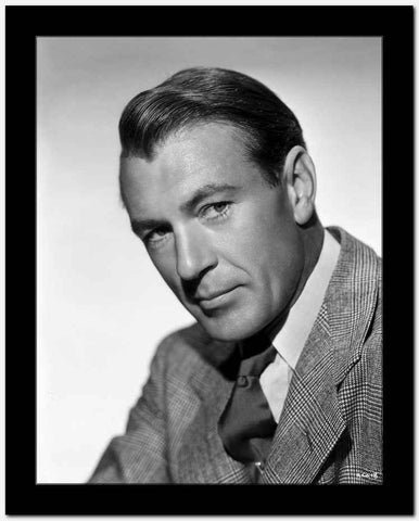 Gary Cooper Posed in Suit with White Background High Quality Photo