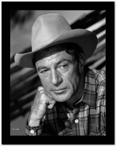 Gary Cooper Leaning on Hand High Quality Photo
