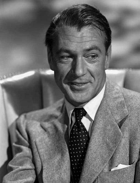 Gary Cooper smiling in Suit Premium Art Print