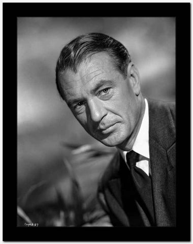 Gary Cooper in Suit with a Straight Face High Quality Photo
