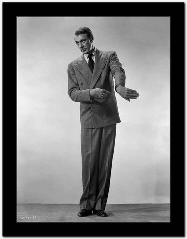 Gary Cooper Pointing the Back of Hand High Quality Photo