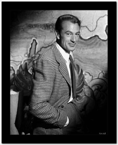 Gary Cooper Posed in Checkered Suit High Quality Photo
