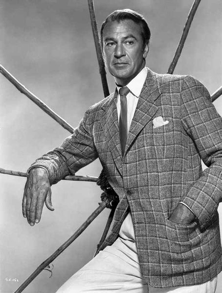 Gary Cooper Posed in Suit with Hand on Pocket Premium Art Print