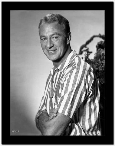 Gary Cooper in Striped Shirt High Quality Photo