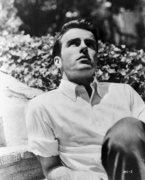 Montgomery Clift Portrait wearing White Sleeves Premium Art Print