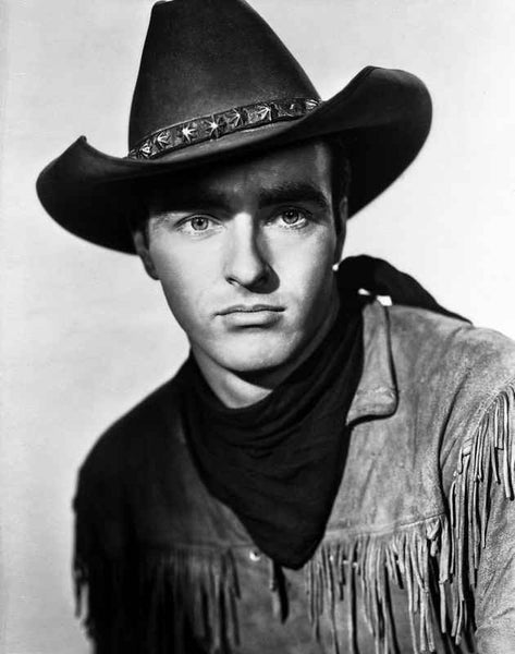 Montgomery Clift Portrait in Cowboy Outfit Premium Art Print