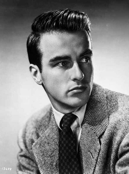 Montgomery Clift Looking Right in Coat and Tie Premium Art Print