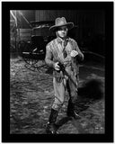 James Cagney Posed in Velvet Long Sleeves and Cowboy Hat with Pistol on the Right Hand High Quality Photo