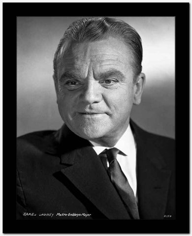 James Cagney Portrait in Black Velvet Sui and Silk Necktie with White Collar Shirt and Brushed Up Hair High Quality Photo