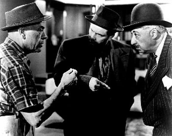 Pocket Of Miracles Three Men with Hat Talking Scene Excerpt from Film Premium Art Print