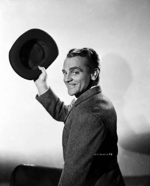 James Cagney in Formal Suit with Hat Classic Portrait Premium Art Print
