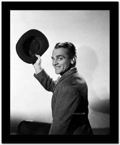 James Cagney in Formal Suit with Hat Classic Portrait High Quality Photo