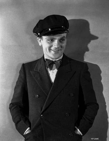 James Cagney Posed in Formal Suit with Cap Classic Portrait Premium Art Print