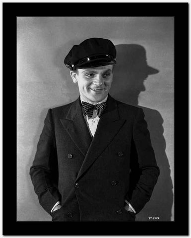 James Cagney Posed in Formal Suit with Cap Classic Portrait High Quality Photo