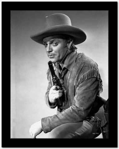 James Cagney in Cowboy Outfit with Pistol Classic Portrait High Quality Photo