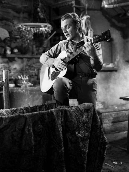 James Cagney Playing Guitar Classic Portrait Premium Art Print