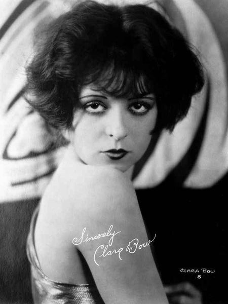 Clara Bow Posed in Tank top with Dark lipstick Premium Art Print
