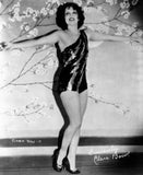 Clara Bow Posed in Black Sexy Dress with Arms Wide Open Premium Art Print