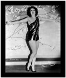 Clara Bow Posed in Black Sexy Dress with Arms Wide Open High Quality Photo
