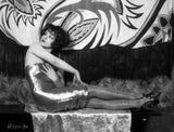Clara Bow Posed in Shiny Tube Dress Premium Art Print