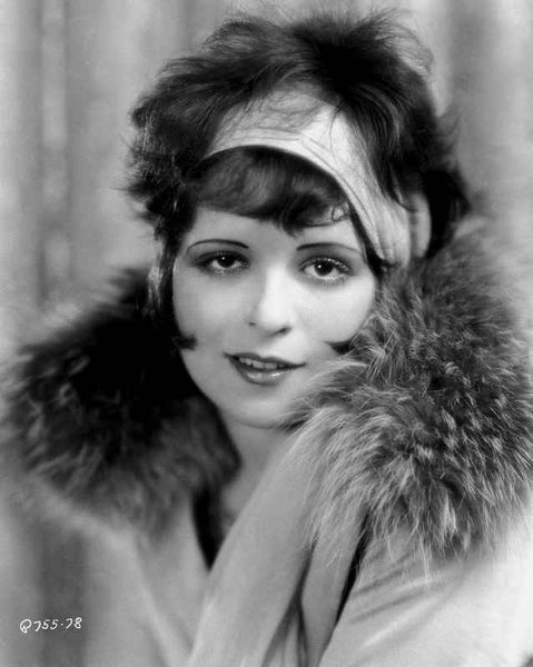 Clara Bow Posed with Furry Shawl Premium Art Print