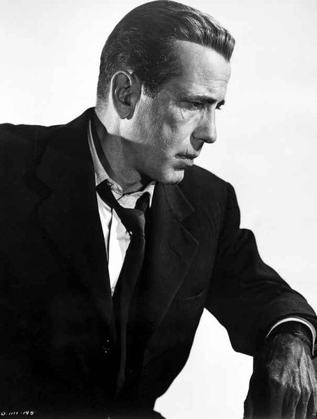 Humphrey Bogart portrait from side loose tie Premium Art Print