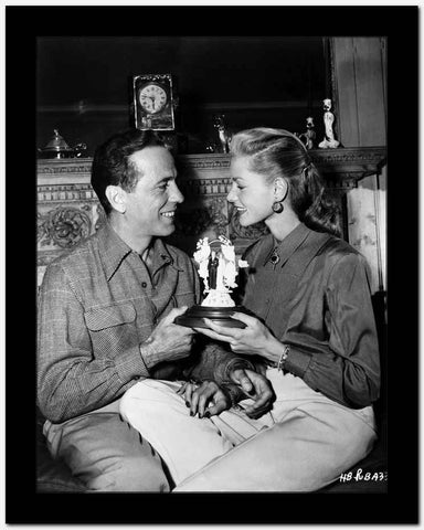 Humphrey Bogart Lauren Bacall Wedding in Couple Scene High Quality Photo