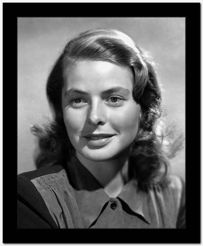 Ingrid Bergman in a Blouse with Collar High Quality Photo
