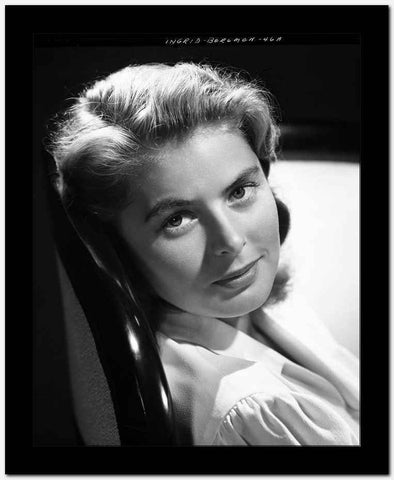 Ingrid Bergman Leaning and wearing a Blouse High Quality Photo