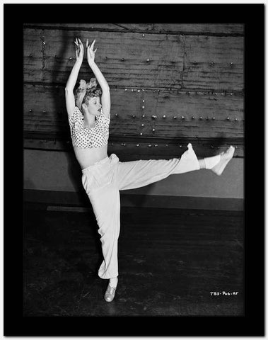 Lucille Ball Dancing in Ballet High Quality Photo