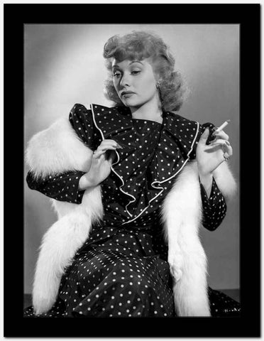 Lucille Ball in Polka Dotted Dress High Quality Photo