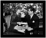 Lucille Ball smiling with Man High Quality Photo