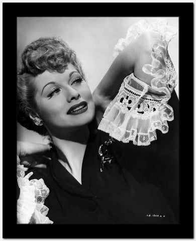 Lucille Ball Black and White Close Up Portrait High Quality Photo
