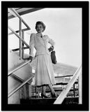 Lucille Ball standing on Stair, wearing White Dress High Quality Photo