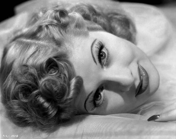 Lucille Ball Lying in Black and White Premium Art Print