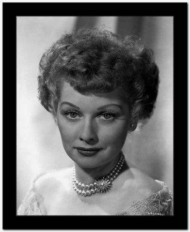 Lucille Ball Close Up Portrait with Necklace High Quality Photo